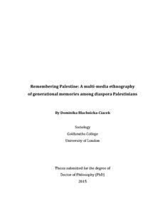 Samantha bremner thesis