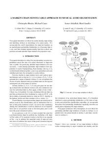 A Markov-Chain Monte-Carlo Approach to Musical Audio