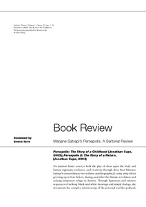 Marjane Satrapi S Persepolis A Sartorial Review Goldsmiths Research Online